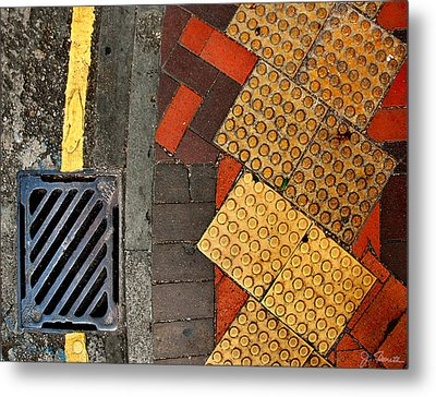 Street Abstract Metal Print by Joe Bonita