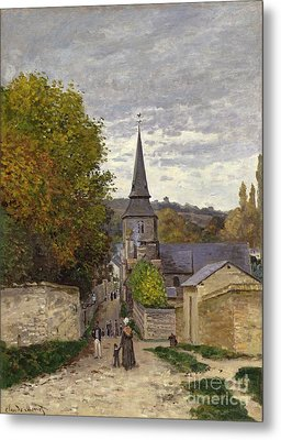 Street In Sainte Adresse Metal Print by Claude Monet