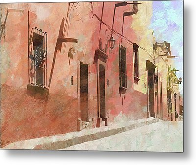 Street In San Miguel De Allende 2 Metal Print