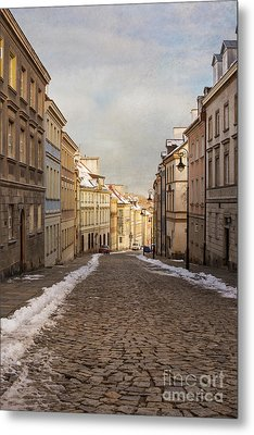 Metal Print featuring the photograph Street In Warsaw, Poland by Juli Scalzi