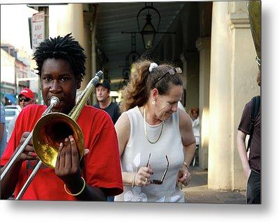 Metal Print featuring the photograph Street Jazz by KG Thienemann
