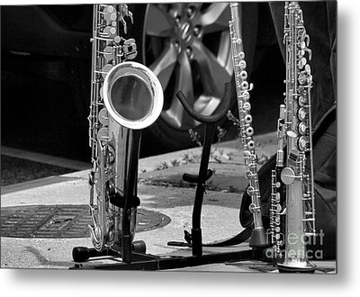 Street Music Metal Print by John S