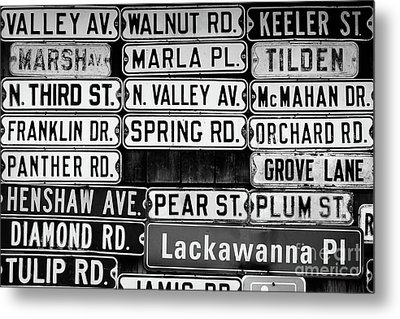 Metal Print featuring the photograph Street Names by Colleen Kammerer