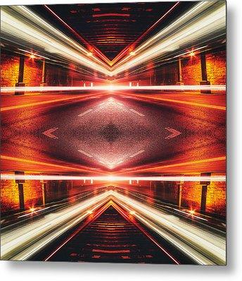 Street Night Light Xtforce-tb Metal Print by Philipp Rietz