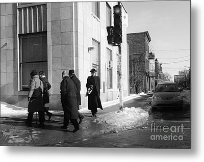 Street Photos Montreal Metal Print by Reb Frost