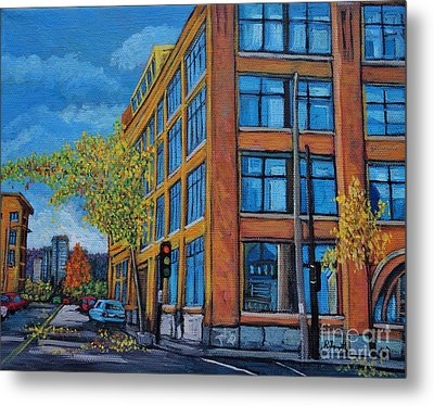 Street Study Montreal Metal Print by Reb Frost