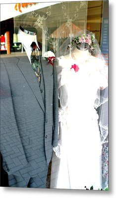 Street Wedding Metal Print by Jez C Self
