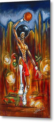 Streetball Metal Print by Daryl Price