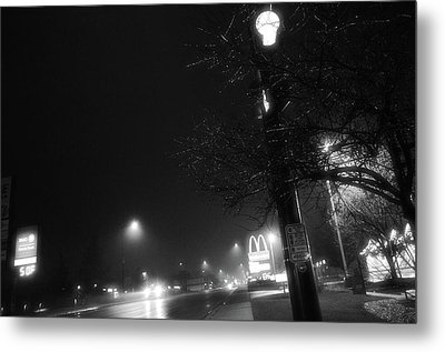 Metal Print featuring the photograph Streetlights by Jeanette O'Toole