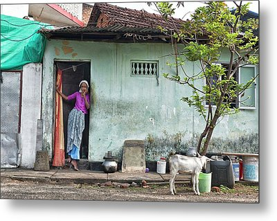 Streets Of Kochi Metal Print by Marion Galt