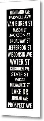 Streets Of Milwaukee Metal Print