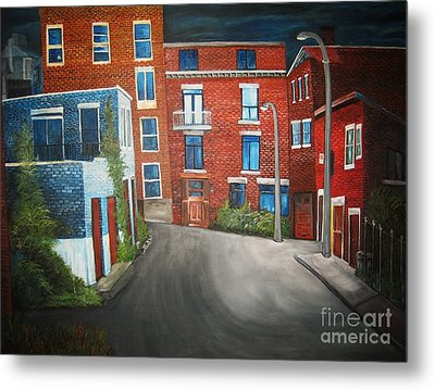 Streets Of Montreal  Joly Metal Print by Reb Frost