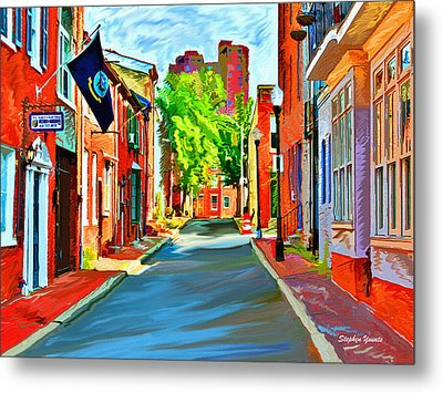 Streetscape In Federal Hill Metal Print by Stephen Younts