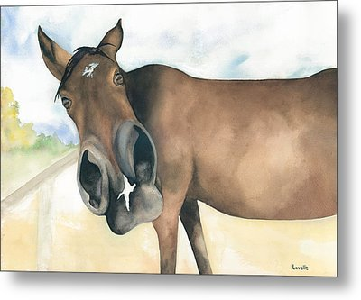 Stretch...your Perspective Metal Print by Kimberly Lavelle
