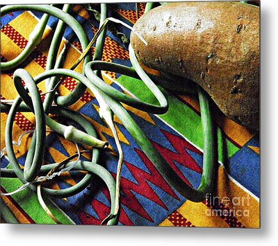 String Beans And Yam Metal Print by Sarah Loft