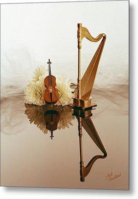 String Duet Metal Print by Judi Quelland