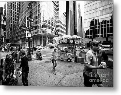 Metal Print featuring the photograph Stripes In The City by John Rizzuto