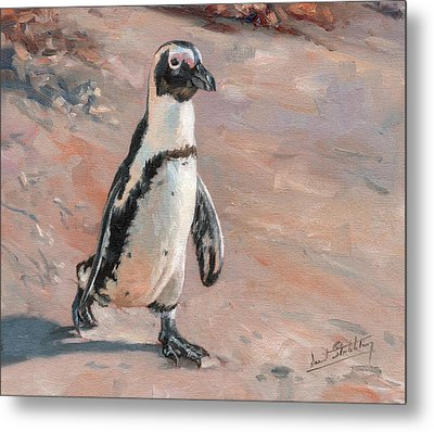 Stroll Along The Beach Metal Print by David Stribbling