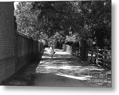 Metal Print featuring the photograph Stroll To Store by Eric Liller