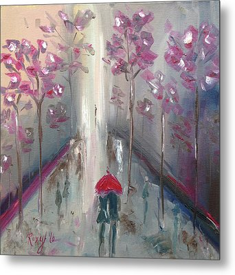 Strolling Metal Print by Roxy Rich