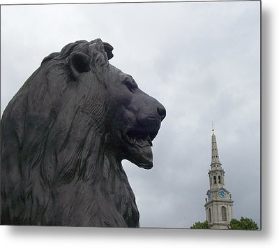 Strong Lion Metal Print by Mary Mikawoz
