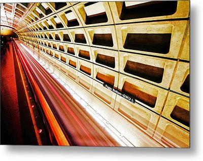 Stronger In The Contrast Metal Print by Mitch Cat