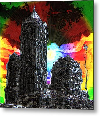 Metal Print featuring the photograph Structural Dissonance by Iowan Stone-Flowers