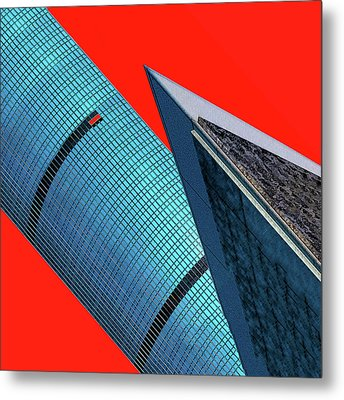 Structures Tilted 2 Metal Print by Bruce Iorio