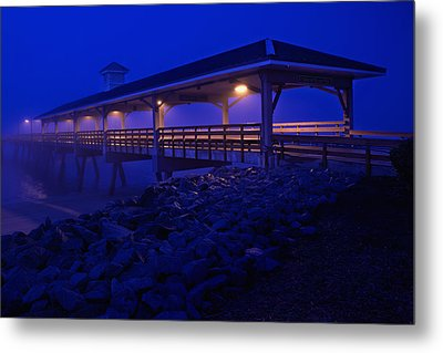 Once In A Blue Mood Metal Print