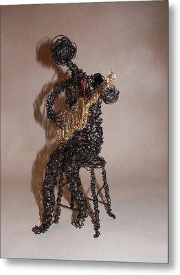 Strummin' The Blues Metal Print by Charlene White