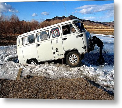 Stuck In Mongolia Metal Print by Diane Height