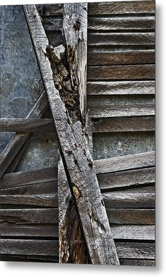 Stud And Lath Metal Print by Murray Bloom