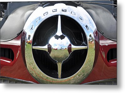 Metal Print featuring the photograph Studebaker Chrome by Glenn Gordon