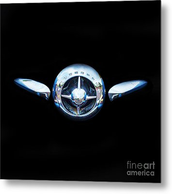 Studebaker In Black Metal Print