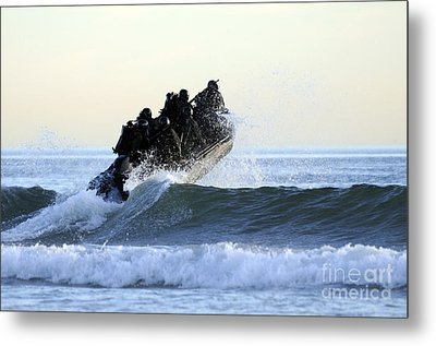Students In Navy Seals Qualification Metal Print by Stocktrek Images