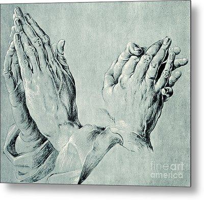 Studies Of Hands Metal Print by Hans Hoffmann
