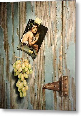 Metal Print featuring the painting Bacchus God Of Wine by William Albanese Sr