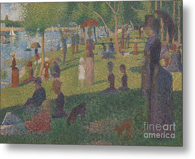 Study For A Sunday On La Grande Jatte, 1884 Metal Print by Georges Pierre Seurat