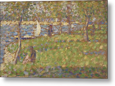 Study For La Grande Jatte Metal Print by Georges Pierre Seurat