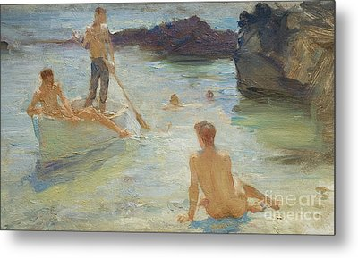 Study For Morning Splendor Metal Print by Henry Scott Tuke