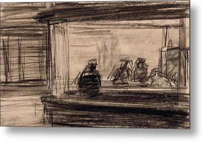 Study For Nighthawks Metal Print by Edward Hopper