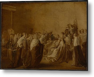 Study For The Collapse Of The Earl Of Chatham Metal Print