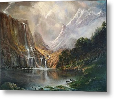 Metal Print featuring the painting Study In Nature by Donna Tucker