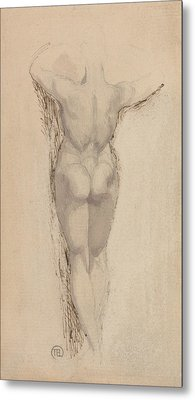 Study Of A Back Of A Female Nude Standing Metal Print by Henry Fuseli