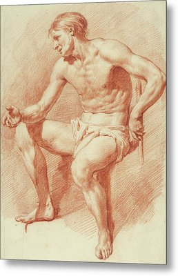 Study Of A Male Nude Metal Print