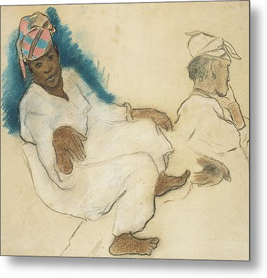 Study Of Martinique Women Metal Print