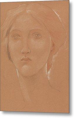 Study Of The Head Of Margaret Burne Jones Metal Print