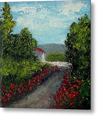 Study Provence Roses Metal Print by Fred Wilson