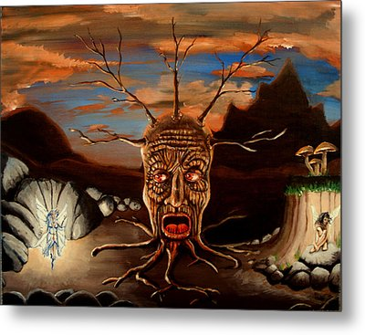 Stump Head Metal Print