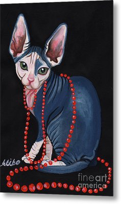 Stylish Sphynx Metal Print